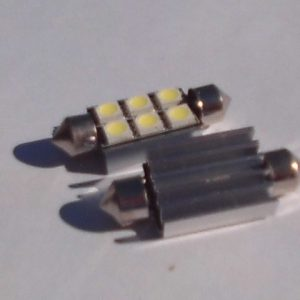 white Canbus 12V 39mm 6SMD 5050 LED